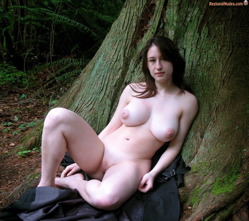 Alison X in Her Big Boobs In The Forest, HD / From: