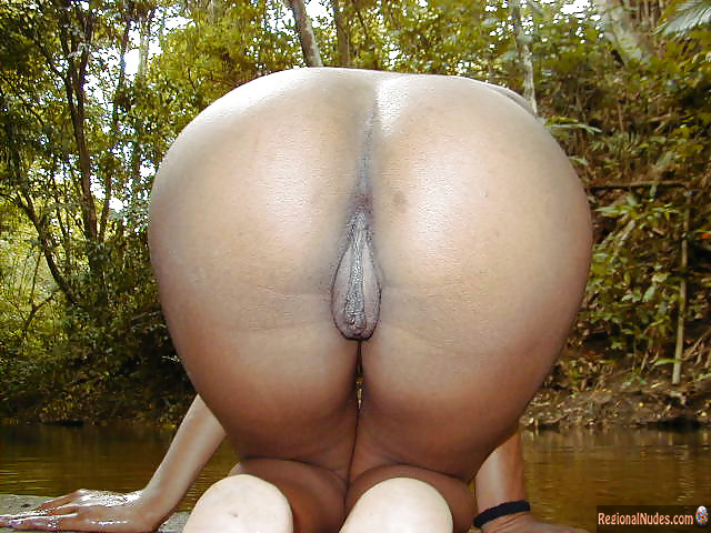 Trinidadian Booty Big Pussy Kneeling Outside Regional Nude Women Photos Only Local Naked