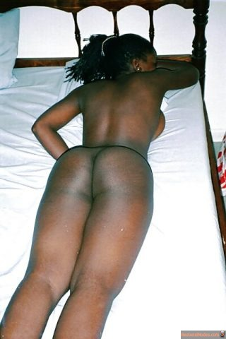 Nude Zambian Girl Butt Laying on Belly - Nude Photos